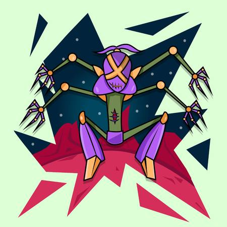 Alien Robot Vector