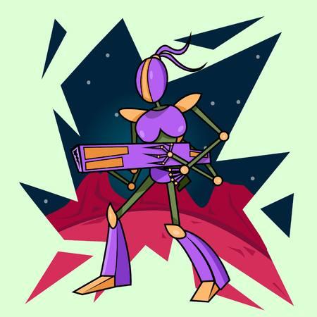 Alien Robot Vector