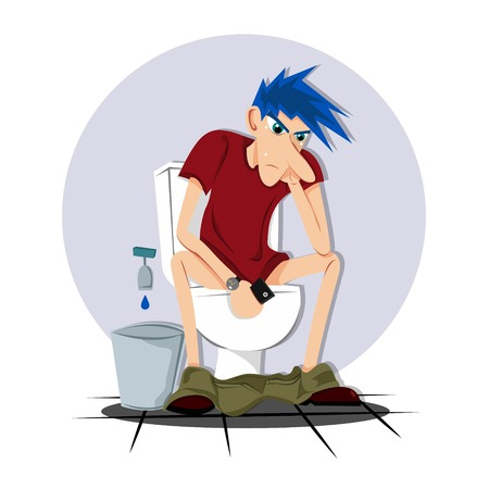 Take a break on the toilet Vector