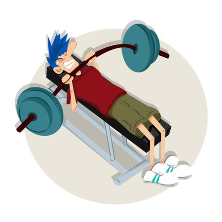 Push The Limit at The Gym Vector