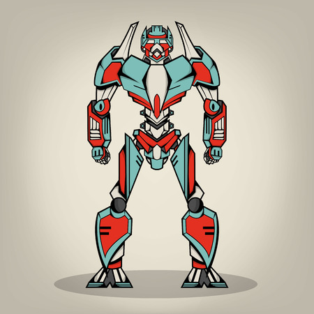 robot: Súper Robot War Vectores