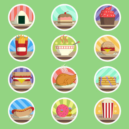 Food Menu  Icons Vector
