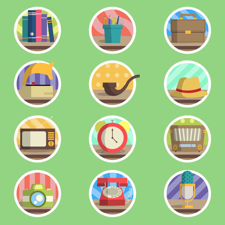 Vintage Item   Icons Vector
