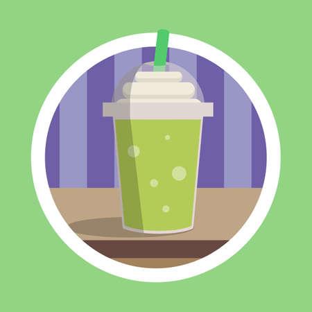 Fresh Green Ice Blended Illustration