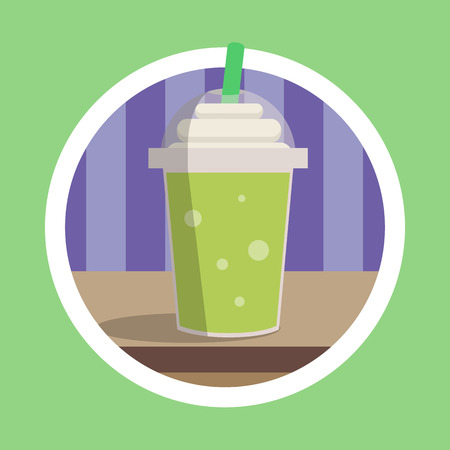 Fresh Green Ice Blend Illustration Stock Photo