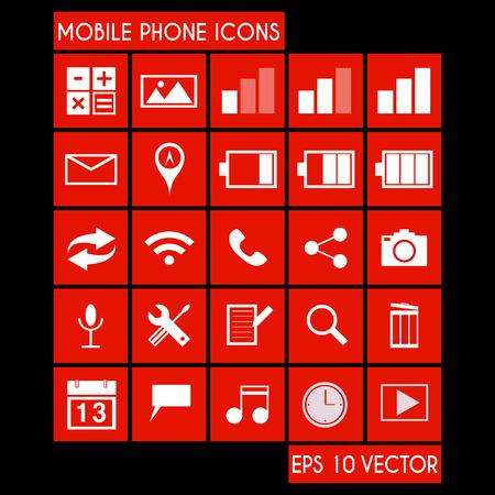 mobile phone icon: Mobile Phone Icon Set