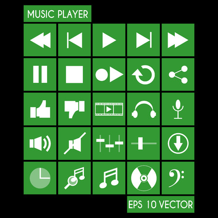 player controls: Music Player Icon Set