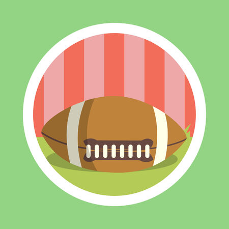 afc: American football ball illustration Stock Photo