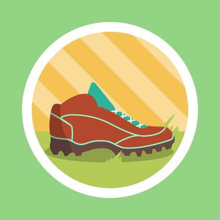 cleats: Football boot Flat Design