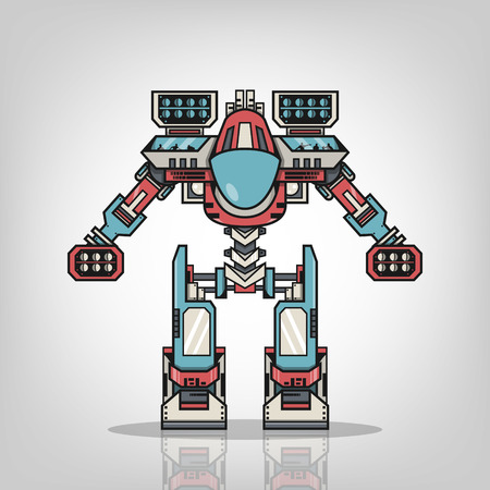 Super War Robot Vector