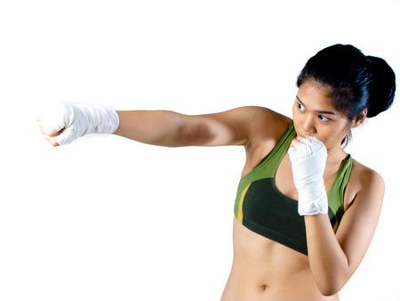 Asiático Femenino de combate Foto de archivo - 28757896