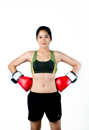 boxer shorts: Asian Female Fighter