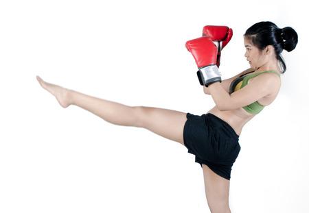 Asiático Femenino de combate Foto de archivo - 28757912
