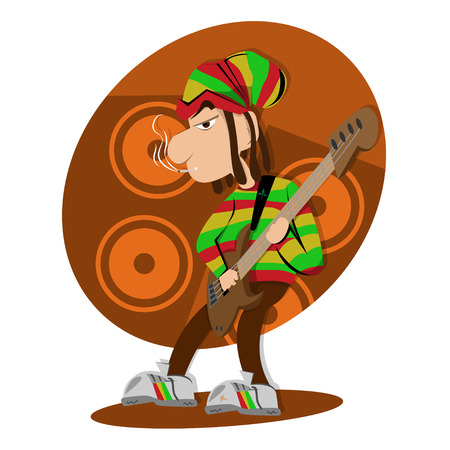 melodist: Reggae dread lock bass player