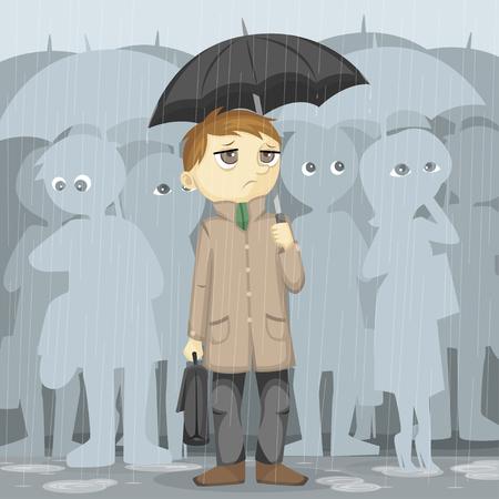 gloomy: Gloomy Rainy Day Illustration Stock Photo