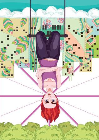 upside: Upside Down Illustration
