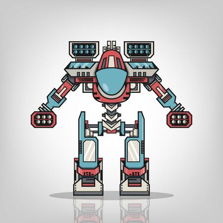 mecha: Super War Robot Illustration