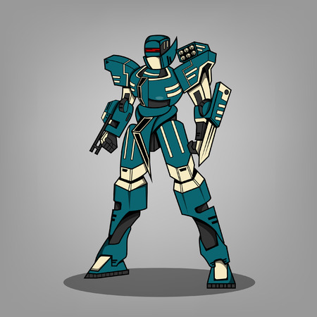 Super War Robot Illustration illustration