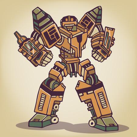 Súper Robot War Foto de archivo - 29726107