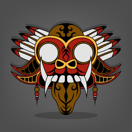 the creative design of  Steam punk Barong Bali Illustration