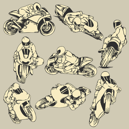 Motorcycle High Speed Action Vector