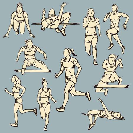 Female Runner Sport Illustration Illustration