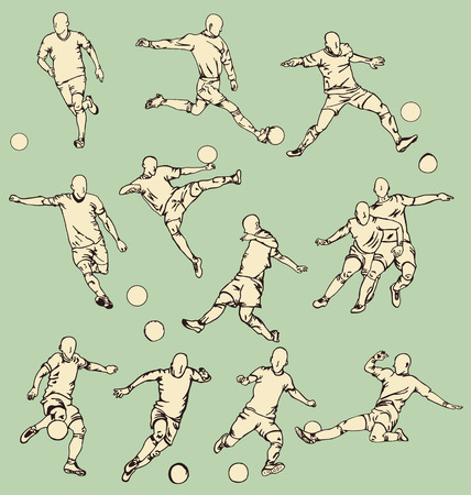 Soccer Sport Action Collection Illustration