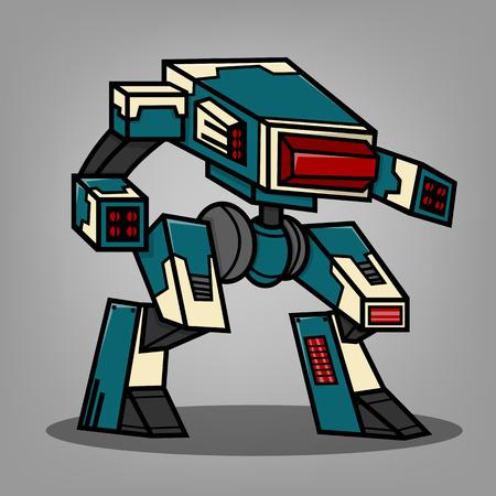 mecha: Square Box Style Robot