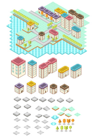 RPG Isometric Tile Collection Vector