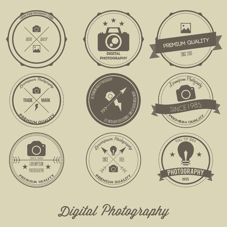 Photography Vintage Creative Logo Concept Vettoriali