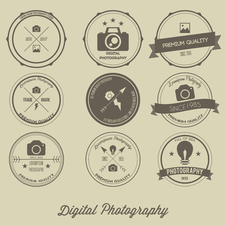 photography logo: Photography Vintage Creative Logo Concept Illustration