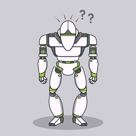 Stupid Question Robot Vector