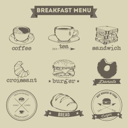 Menu déjeuner main style de dessin Banque d'images - 33962278