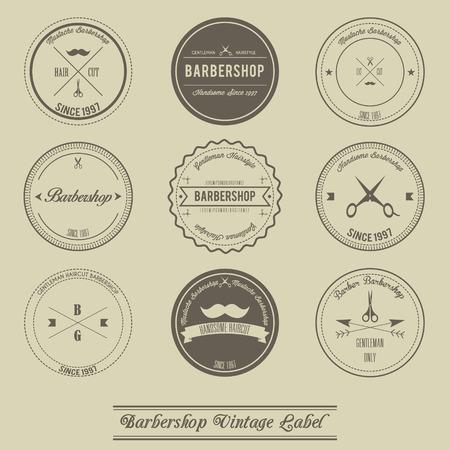 groomed: Barbershop vintage label design