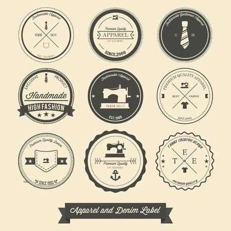 vintage etiket: Kleding en denim vintage label