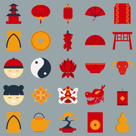 Chinese new year flat design object
