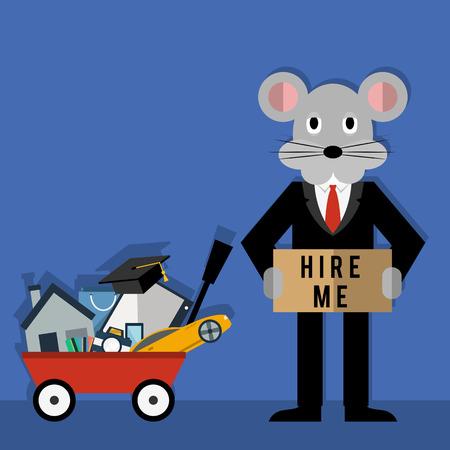 rat race: Rats Life Problems Illustration