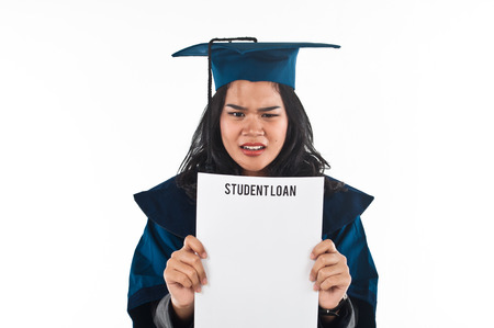 loaning: Female student unhappy with her student loan