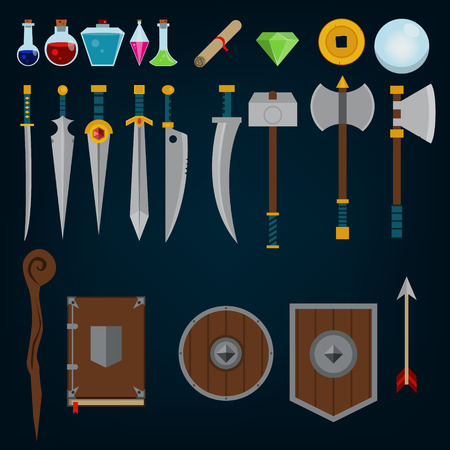 medieval fantasy rpg game assets Ilustração