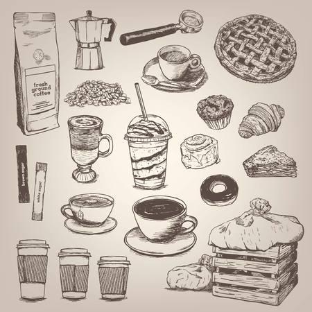 Cafetería elemento de diseño de la vendimia Foto de archivo - 46604247