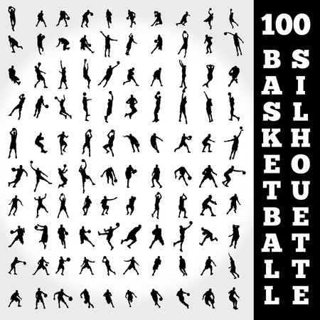 moves: 100 Basketball Silhouette