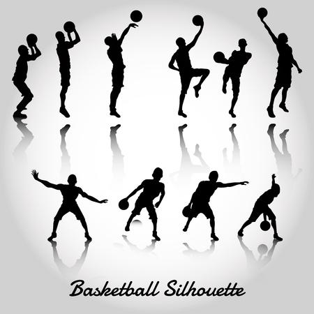 layup: basketball silhouette