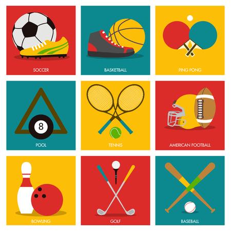 icono deportes: deportivo icono gráfico Vectores