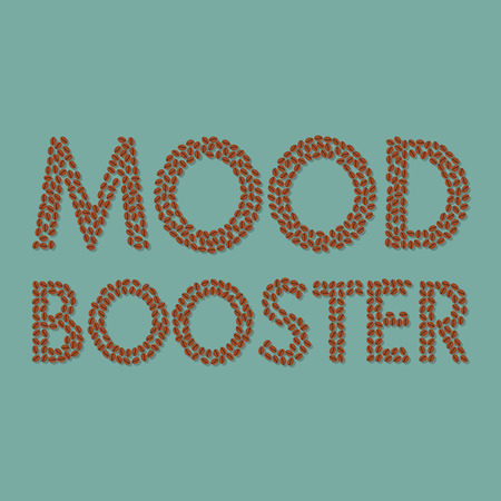 booster: coffee beans mood booster typography