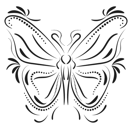 element: Decorative butterfly element tattoo