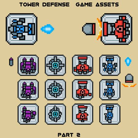 assets: Tower defense game assets part 1 Illustration