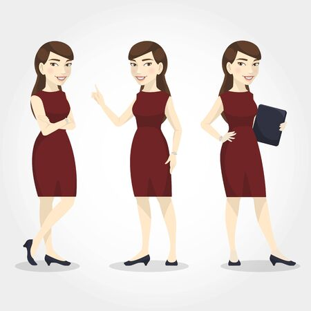 Female character Asian businesswoman.