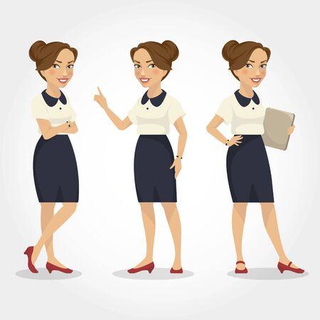 Female character Hispanic businesswoman.