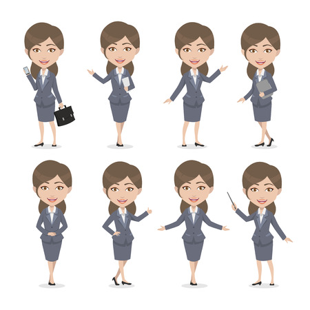 Brunette Female Character Business Woman