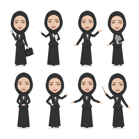 Hijab Female Character Business Woman